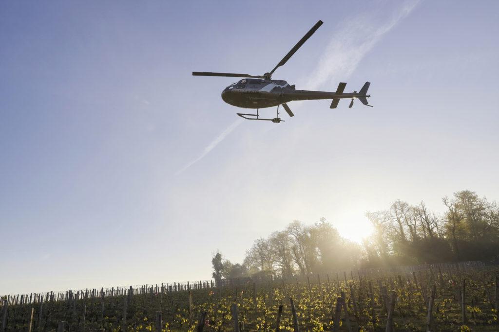 Travail aerien - Lutte anti gel - Mont Blanc Hélicoptères Lyon
